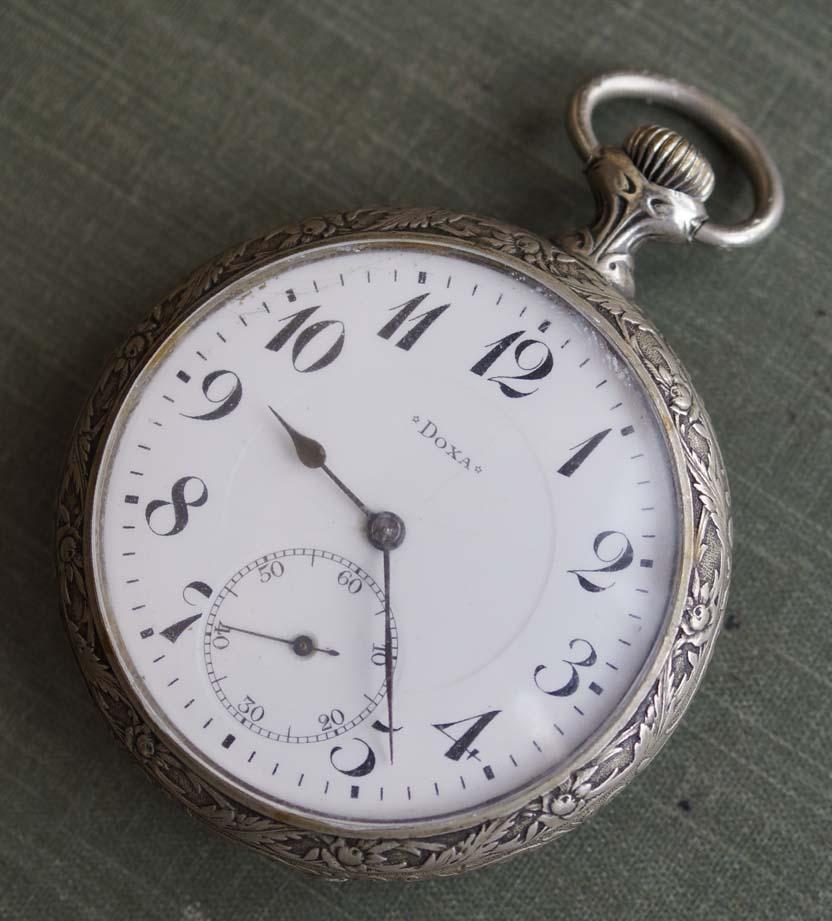 Старинные и антикварные часы Швейцарские старинные карманные часы DOXA.  Подкова. Антикварный интернет магазин