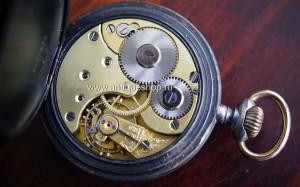 Часы карманные оружейная сталь, англия нач.
